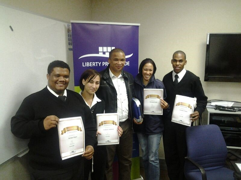 The recipients with the Operations Manager Western Cape, Ferguson du Toit